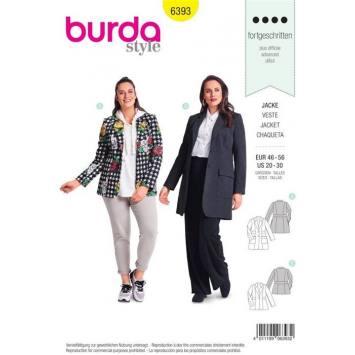 Patron Burda 6393 : Veste Taille 46-56