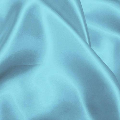 Satin uni bleu azur 110cm