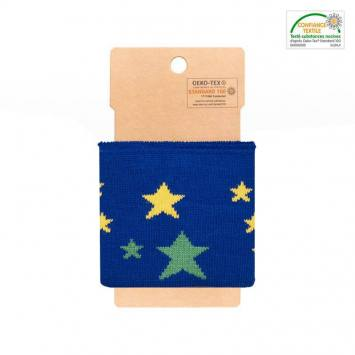 Bord-côte bleu à étoiles jaunes