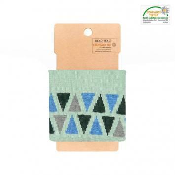 Bord-côte vert d'eau à triangles bleus