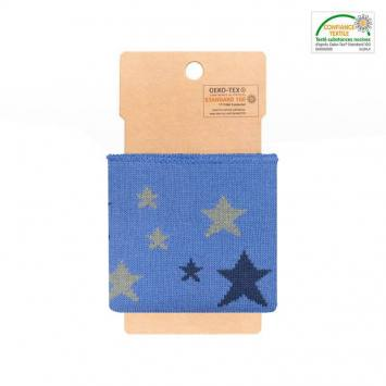Bord-côte bleu jean à étoiles bleues