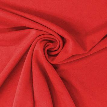 Tissu scuba crêpe uni rouge