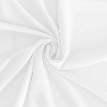 Mousseline crêpe pearl blanche