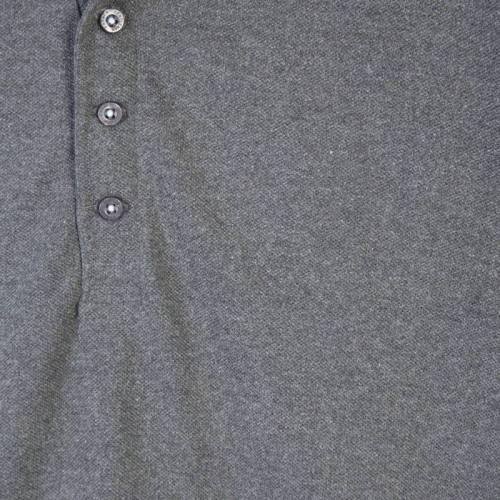 Coton piqué pour polo gris