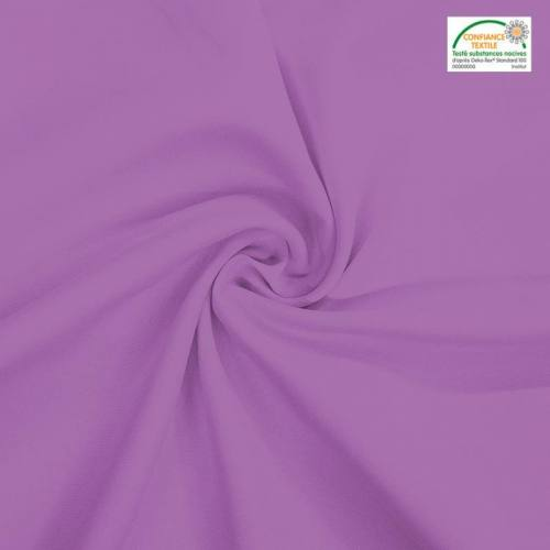 Rouleau 25m burlington infroissable Oeko-tex lilas
