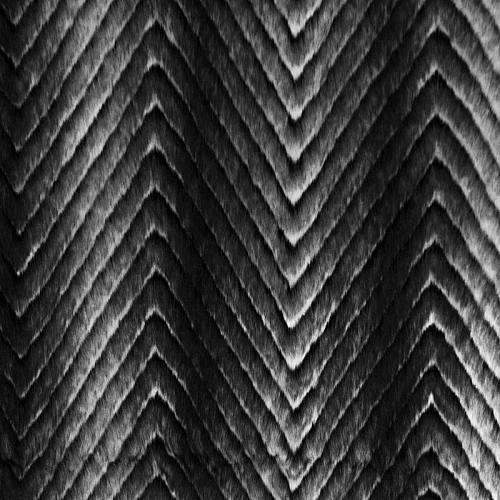 Fausse fourrure grise et noire motif chevron