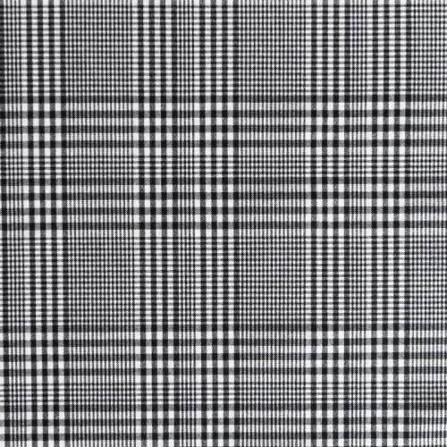 Tissu tartan carreaux noirs et blancs