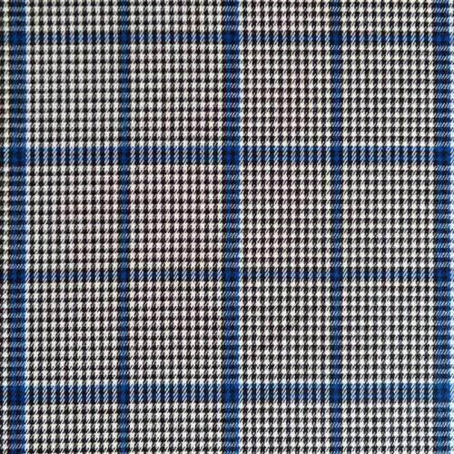 Tissu tartan carreaux irréguliers bleus