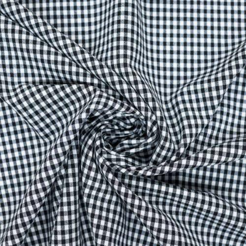 Tissu vichy noir