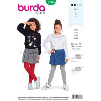 Patron Burda 9336 : Jupe Taille 128-158 cm