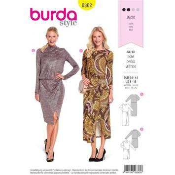 Patron Burda 6362: Robe Taille 34-44