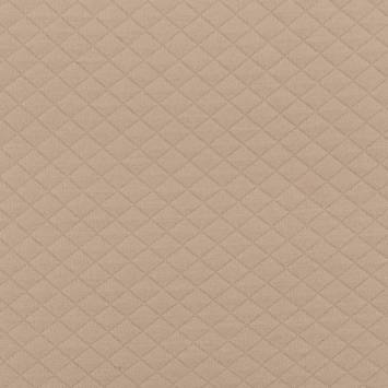 Tissu molleton matelassé grège