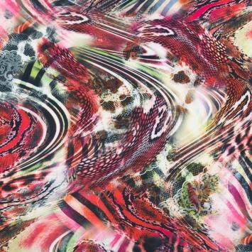 Lycra extensible motif dentelle abstraite