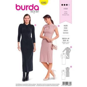 Patron Burda 6382 : Robe Taille 34-44