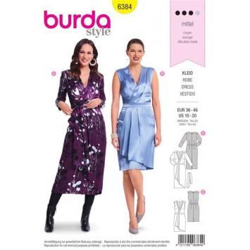Patron Burda 6384 : Robe Taille 36-46