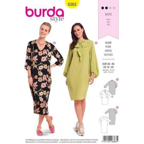 Patron Burda 6363 : Robe Taille 36-46