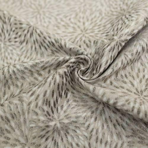 Jacquard beige motif étincelle blanche et argent