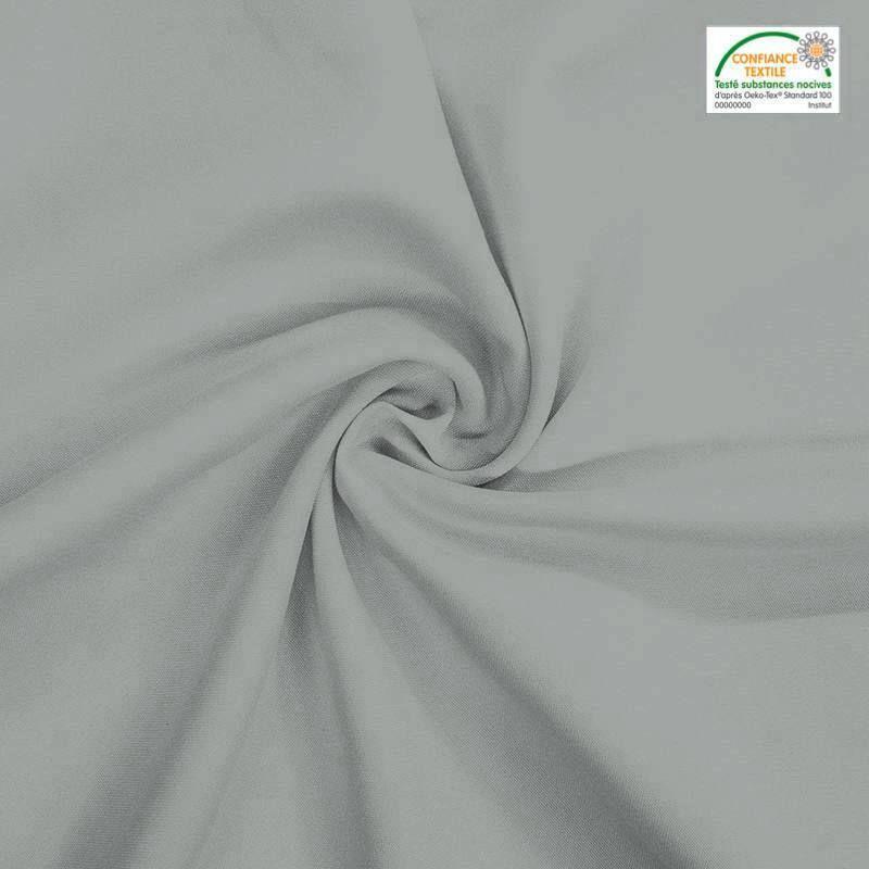 Rouleau 29m burlington infroissable Oeko-tex gris perle