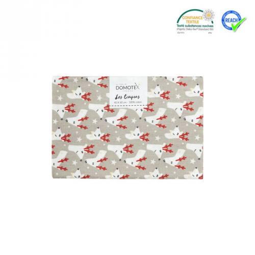 Coupon 40x60 cm coton gris rennes kivik