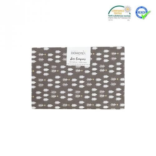 Coupon 40x60 cm coton gris sapin tsugneg