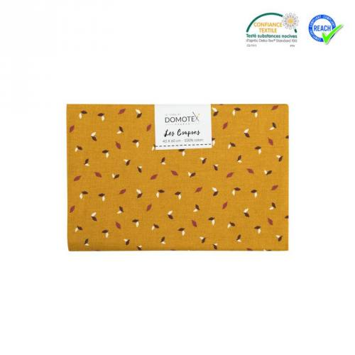 Coupon 40x60 cm coton cannelle feuille salva