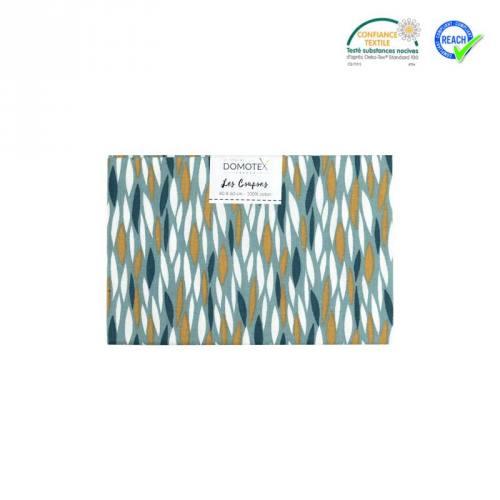 Coupon 40x60 cm coton vert badi