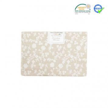 Coupon 40x60 cm coton beige motif margelie