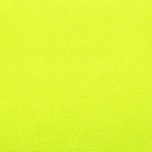 Rouleau 15m feutrine jaune fluo 91cm