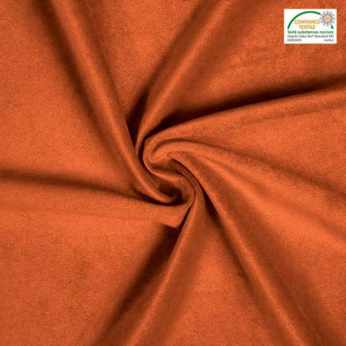 Velours teflon uni orange 450 gr