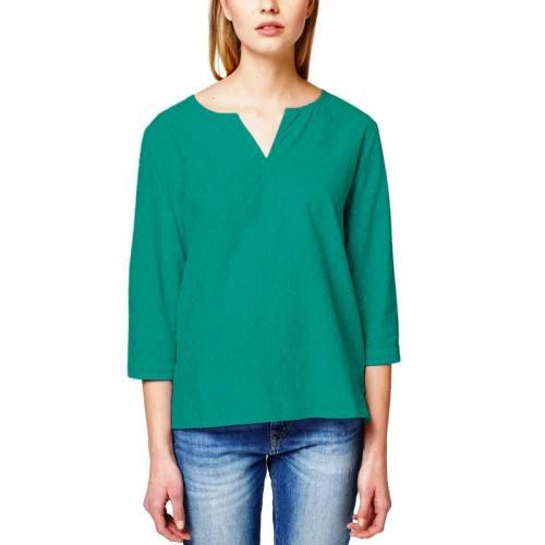 Voile de coton plumetis vert émeraude uni