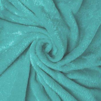 Polaire soyeuse unie bleu bondi