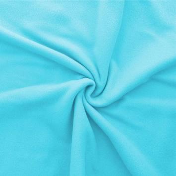 Polaire mate unie bleu ciel