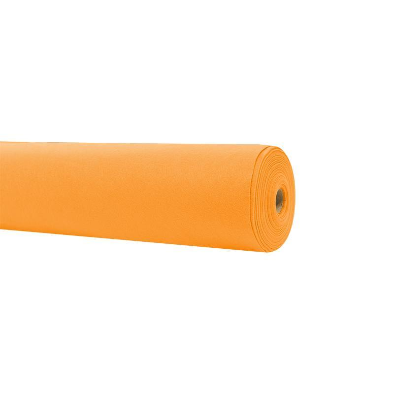 Rouleau 15m feutrine orange clair 91cm