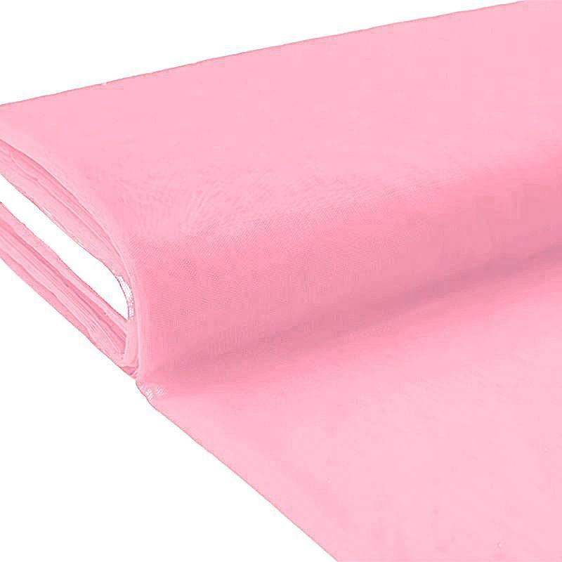 Plaquette 25m Tulle déco rose grande largeur