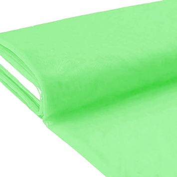 Plaquette 25m Tulle déco vert pistache grande largeur
