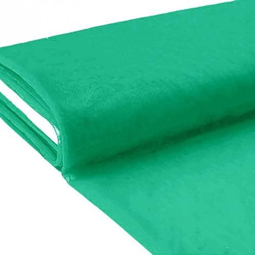 Plaquette 25m Tulle déco vert profond grande largeur