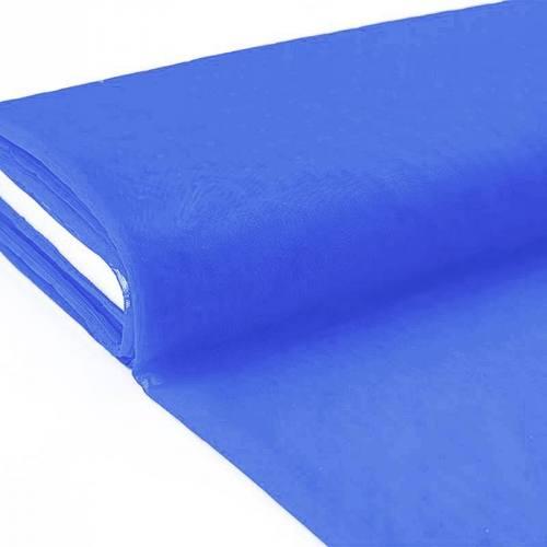 Plaquette 25m Tulle déco bleu grande largeur