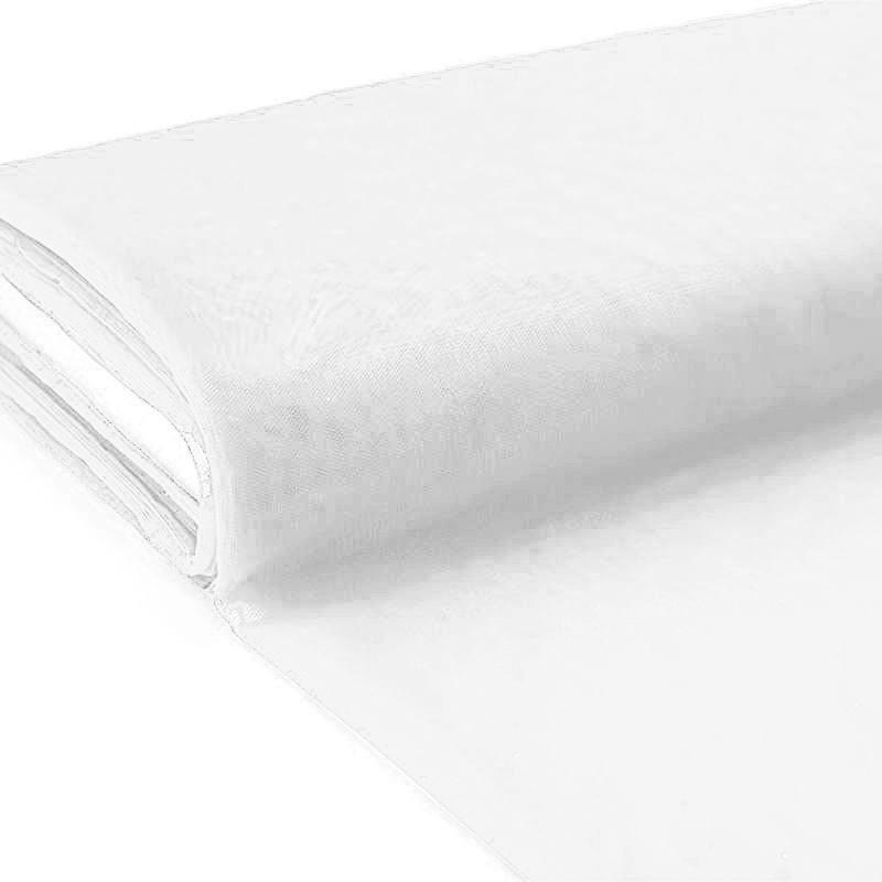 Plaquette 40m Tulle blanc
