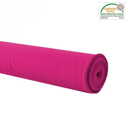 Rouleau 32m burlington infroissable Oeko-tex fuchsia