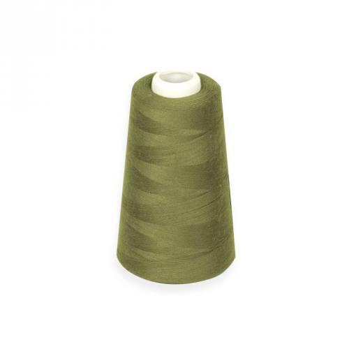 Cône de fil à surfiler et à coudre vert olive