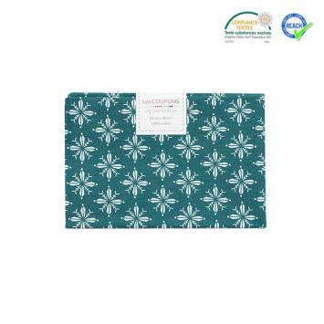 Coupon 40x60 cm coton Noël vert imprimé norden
