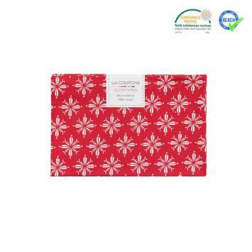 Coupon 40x60 cm coton Noël rouge imprimé norden
