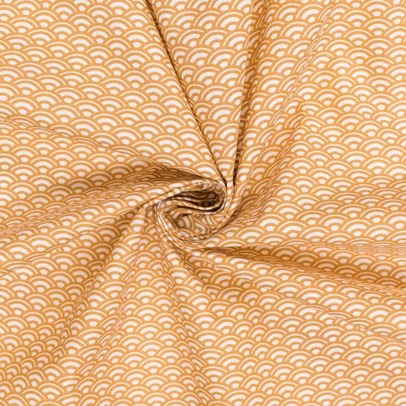 Coton blanc écaille caramel