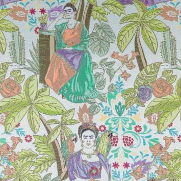 Jacquard multicolore mexicaine et jungle