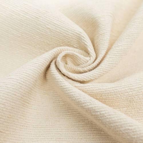 Tissu effet tissage brut crème