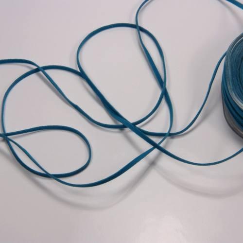 Lacet suédine 3 mm bleu