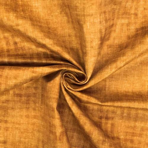 Velours ras jaune aspect lin