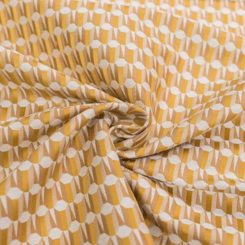 d9abf762b365 Jacquard motif géométrique blanc et doré ...