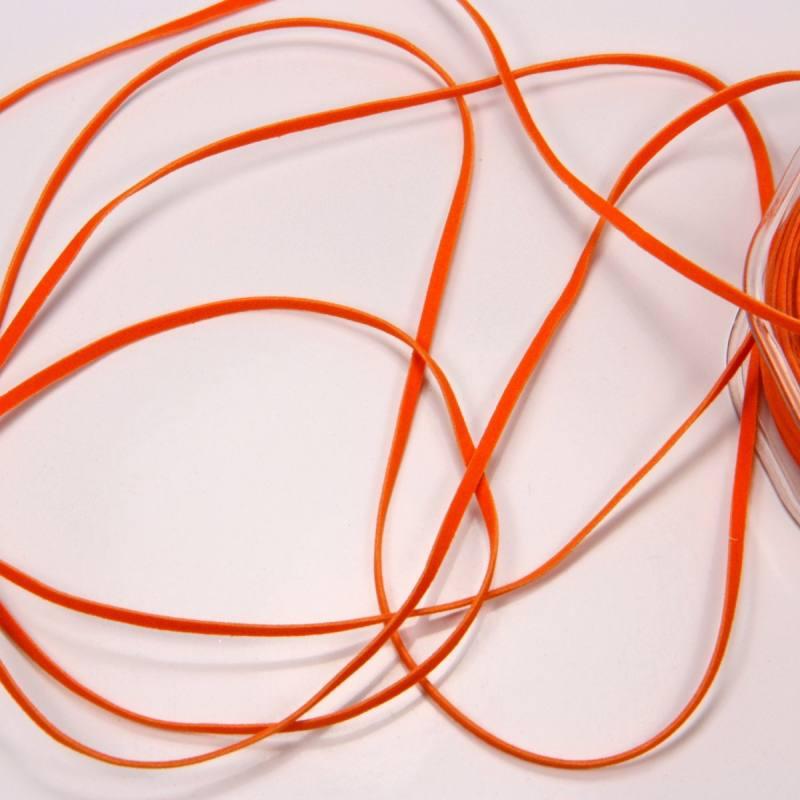 Lacet suédine 3 mm orange