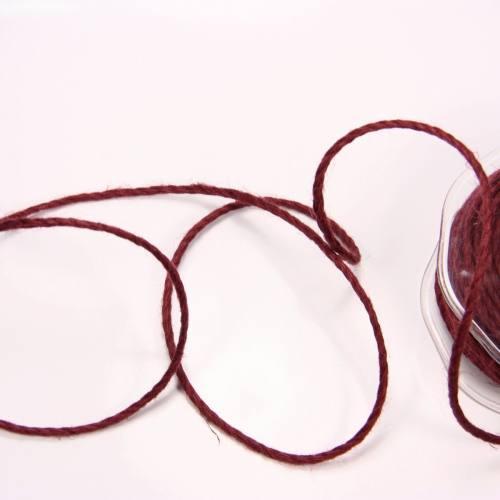 Cordelière jute 3 mm lie de vin
